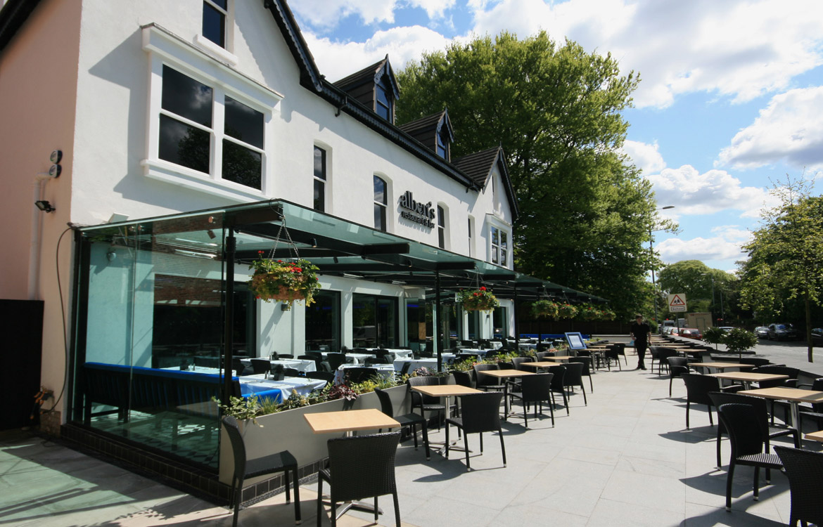 Albert's Restaurant and Bar Didsbury, External Dining
