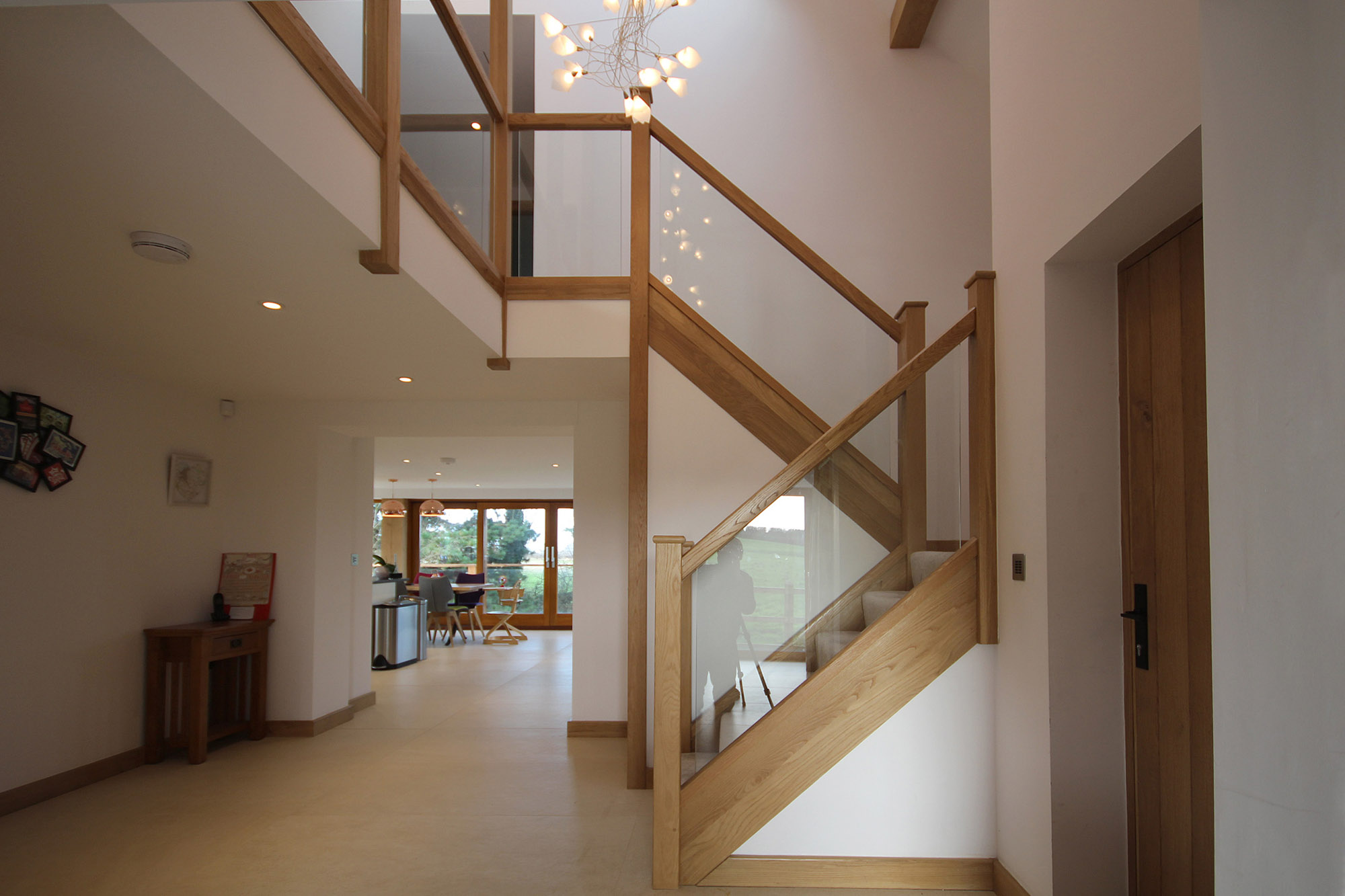 The hall and staircase at Top Mill Cottage