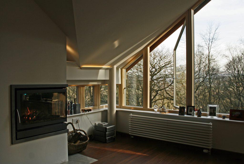 Sander House Internal Living Room corner window