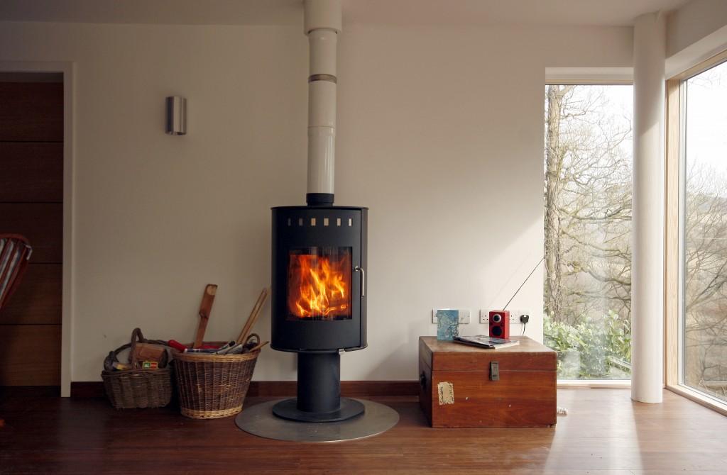 Sanders House, Family Room wood burning stove