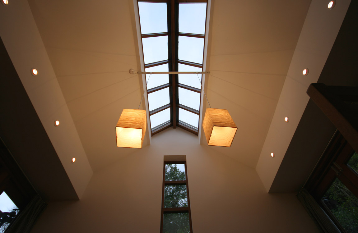 House in Didsbury, Manchester - Glass lantern in family room